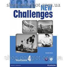 Рабочая тетрадь New Challenges 4 Workbook & Audio CD Pack