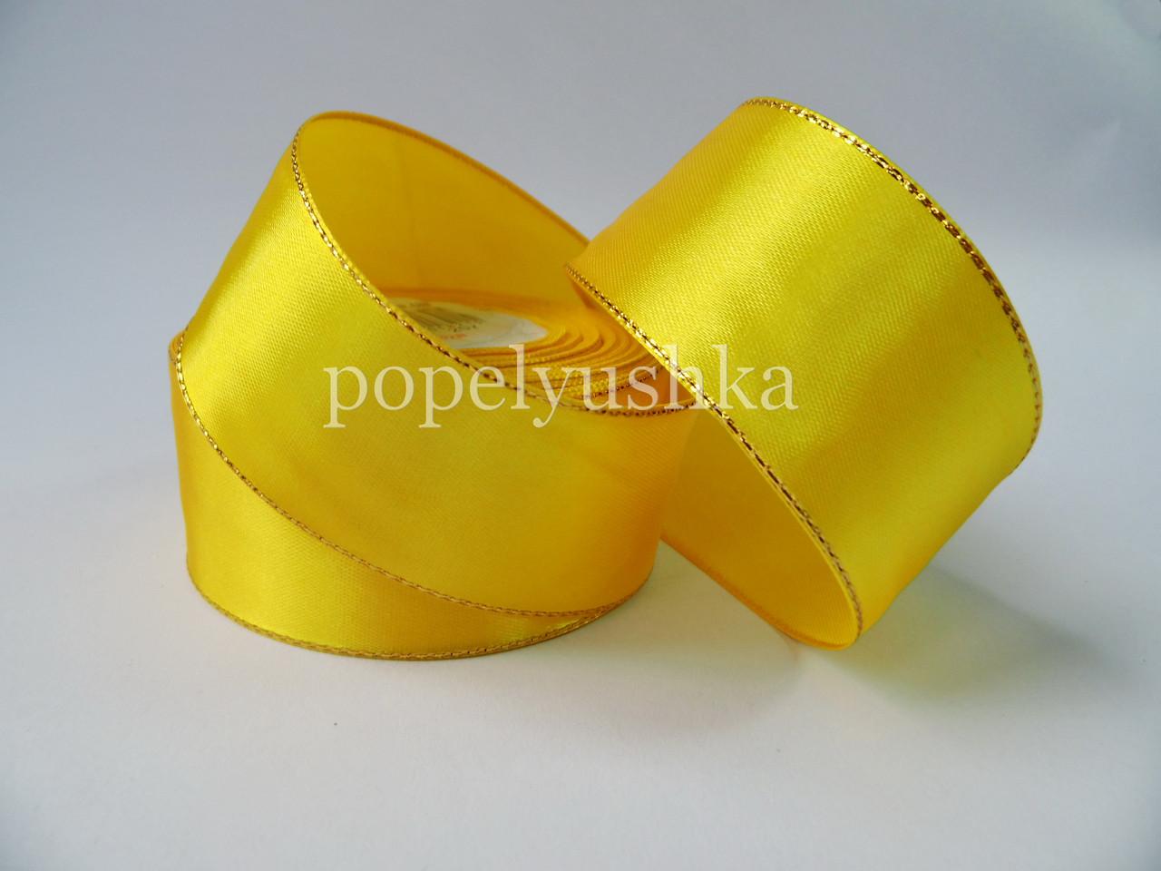 Стрічка з люрексом 2,5см жовта