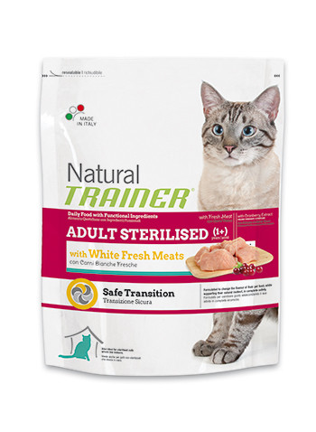 Trainer ADULT STERILISED With White Fresh Meats (со свежим белым мясом)корм для взрослых стерилизованных кошек