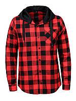 Мужская рубашка в клетку с капюшоном средней плотности GLO-Story, Венгрия 1307