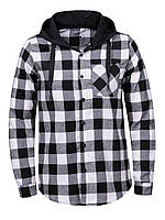 Мужская рубашка в клетку с капюшоном средней плотности, Последний размер L GLO-Story, Венгрия 1307