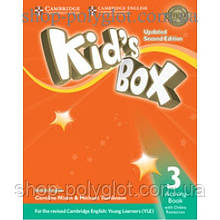 Рабочая тетрадь Kid's Box Updated Second edition 3 Activity Book with Online Resources