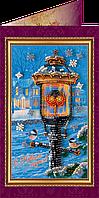 """Набор - открытка  для вышивки бисером """"С Новым годом-31″"""