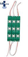 Светодиодный модуль smd 5050 зеленый 3 диода (color), фото 1