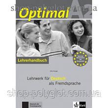 Книга для учителя Optimal A2 Lehrerhandbuch+Lehrer-CD-ROM