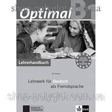 Книга для учителя Optimal B1 Lehrerhandbuch+Lehrer-CD-ROM
