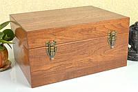 Подарочный деревянный сундук из дерева дуба 18*25*12 см. / Сундук на подарок