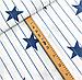 """Бязь Gold хлопковая """"синие звезды на голубых полосках (белый фон)"""", фото 2"""
