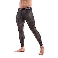Компрессионные штаны/тайтсы для бега, единоборств Grips Camo Snake