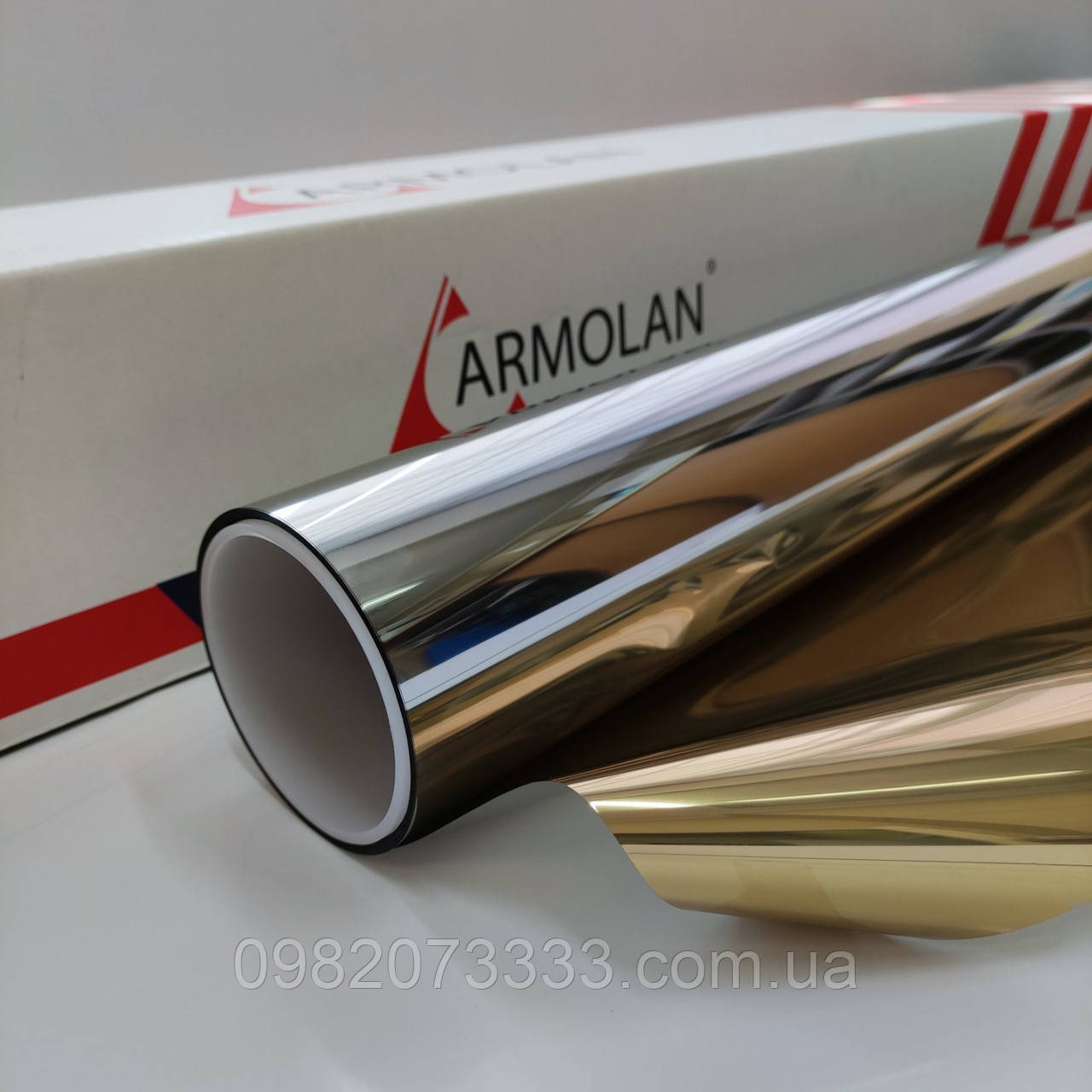 Солнцезащитная пленка R Gold 15 Armolan зеркальная тонировочная для окон. Ширина рулона 1,524 (цена за кв.м)