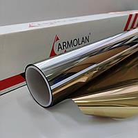 Солнцезащитная пленка R Gold 15 Armolan зеркальная тонировочная для окон. Ширина рулона 1,524 (цена за кв.м), фото 1