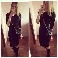Платье женское Вероника черное , платье до колена