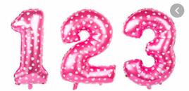 Рожевий Куля цифра 3(40 см)