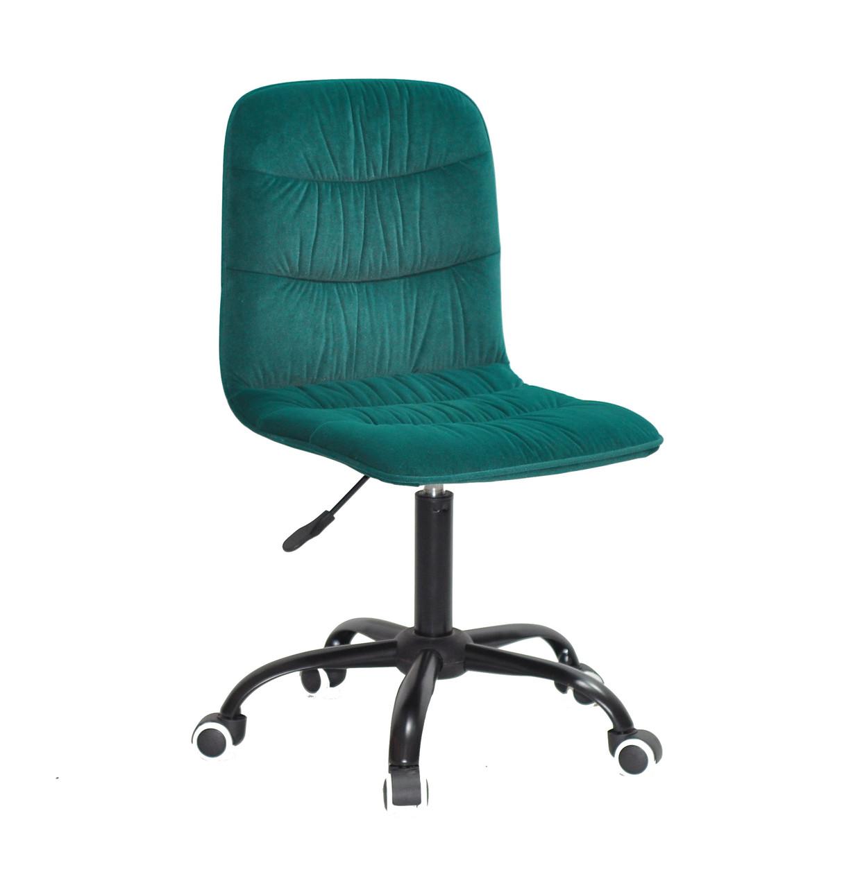 Кресло офисное  на колесах  SPLIT    BK- OFFICE  бархат  , зеленый  1003
