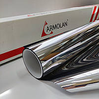 Солнцезащитная плёнка Armolan Silver 15% USA зеркальная для тонировки окон. Цена за размер 150х50см., фото 1
