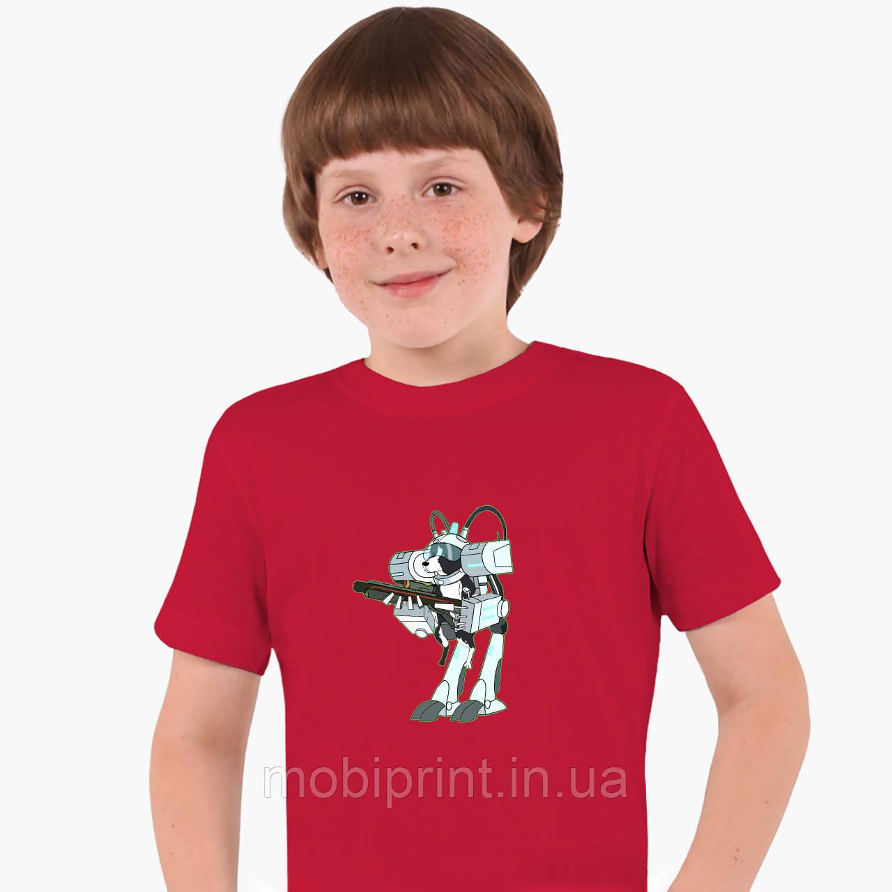 Детская футболка для мальчиков Рик и Морти (Rick and Morty) (25186-1239) Красный
