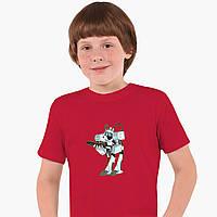 Детская футболка для мальчиков Рик и Морти (Rick and Morty) (25186-1239) Красный, фото 1