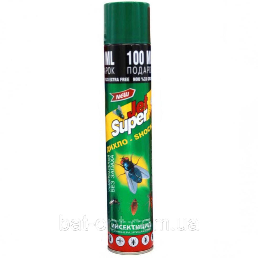 Дихлофос JET SUPER 400мл зеленый от летающих и ползающих насекомых