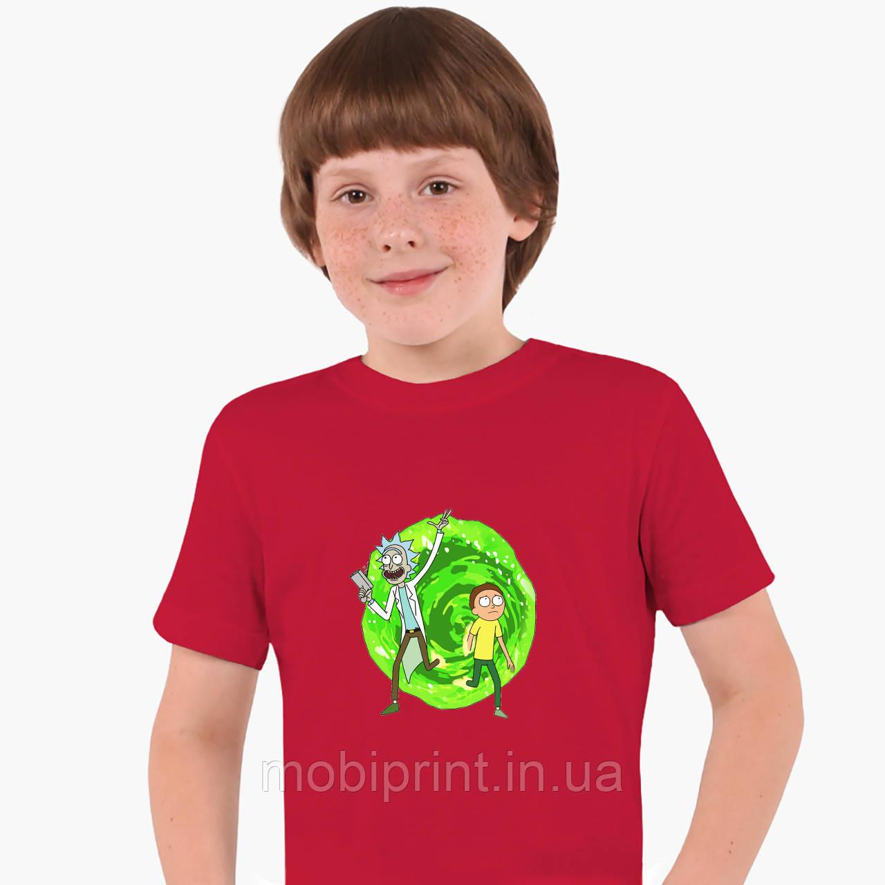 Детская футболка для мальчиков Рик и Морти (Rick and Morty) (25186-1240) Красный