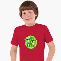 Детская футболка для мальчиков Рик и Морти (Rick and Morty) (25186-1240) Красный, фото 1