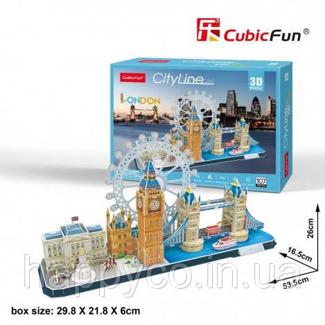 """Трехмерная головоломка-конструктор """"CITY LINE LONDON"""" CubicFun"""