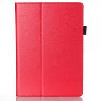 Кожаный чехол-книжка для планшета Lenovo Tab 2 A10-70L TTX с функцией подставки Красный