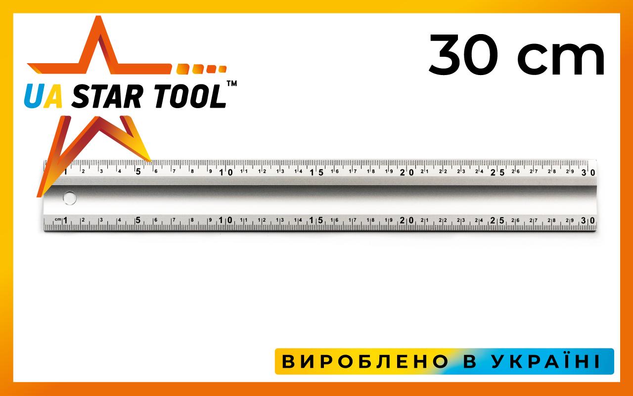 Лінійка будівельна STAR TOOL, 300 мм, алюмінієва