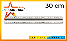 Линейка строительная STAR TOOL, 300 мм, алюминиевая