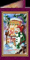 """Набор - открытка  для вышивки бисером """"С Новым годом-5″"""