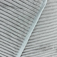 Однотонный плед рифленый покрывала из микрофибры серого цвета