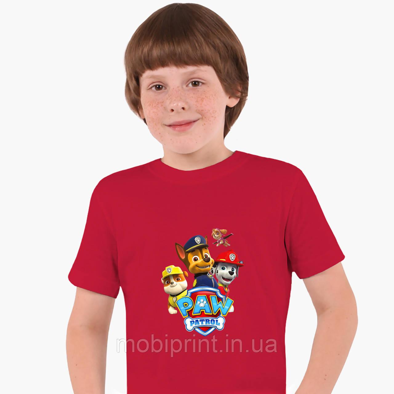 Детская футболка для мальчиков Щенячий патруль (PAW Patrol) (25186-1606) Красный