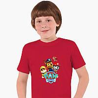 Детская футболка для мальчиков Щенячий патруль (PAW Patrol) (25186-1606) Красный, фото 1