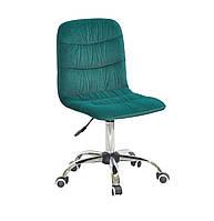 Кресло офисное на колесах SPLIT CH- OFFICE бархат , зеленый в-1003