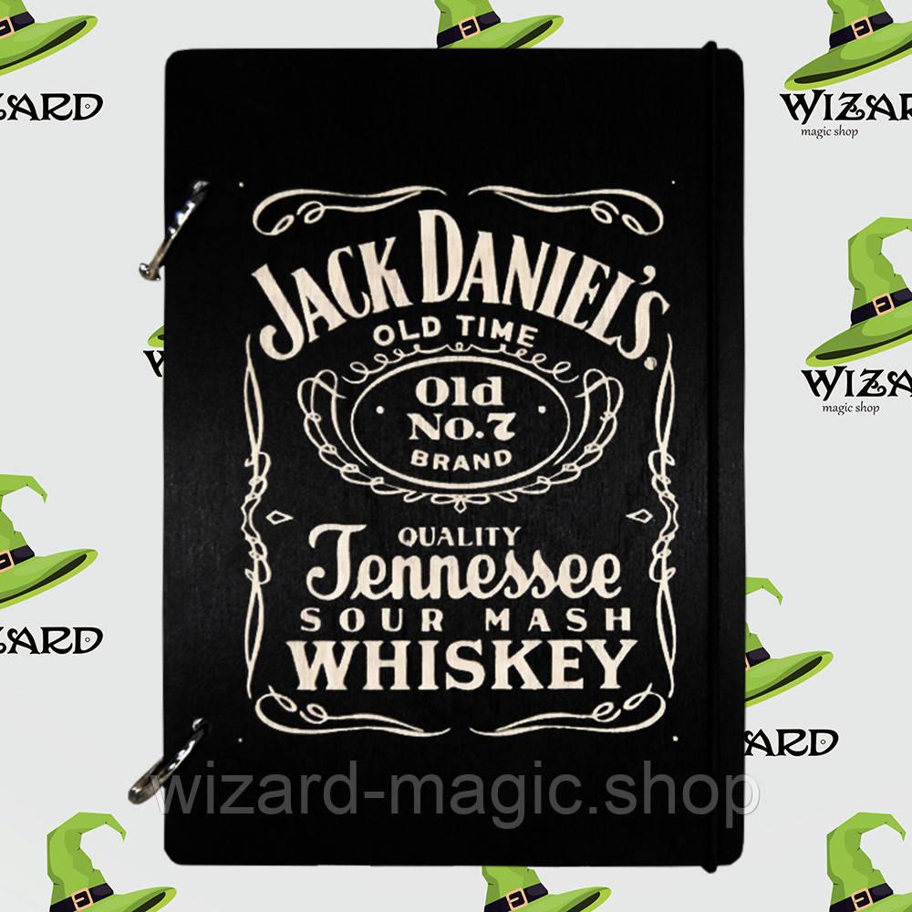 Деревянный скетчбук А5 Джек Дениелс (черное дерево)