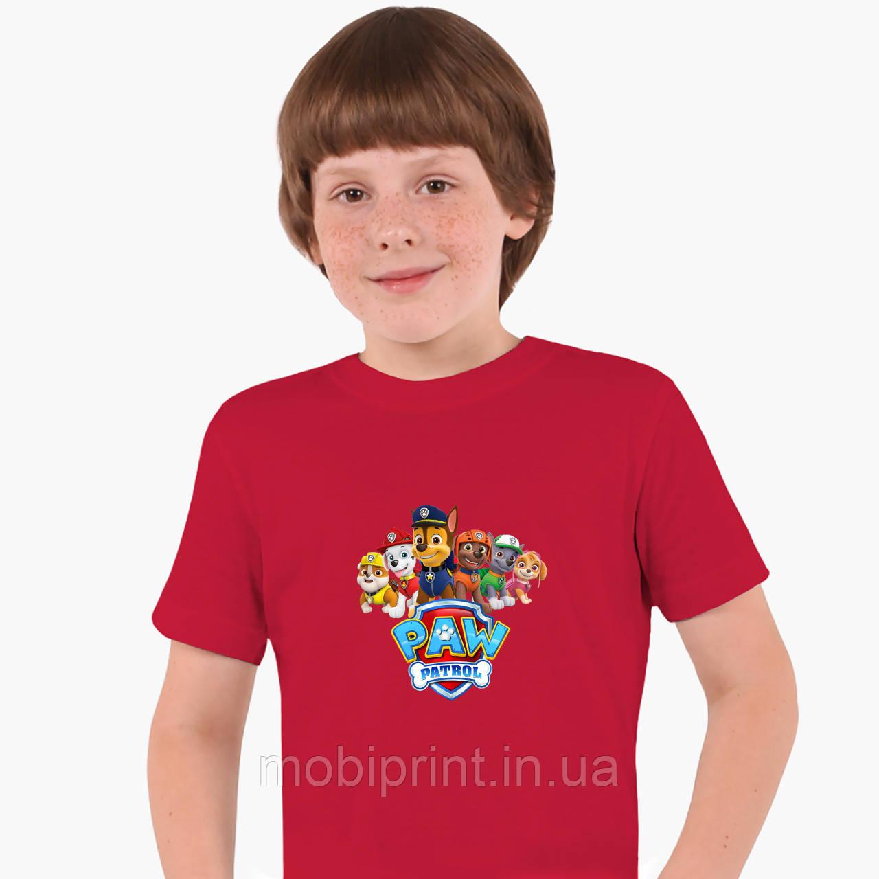 Детская футболка для мальчиков Щенячий патруль (PAW Patrol) (25186-1607) Красный