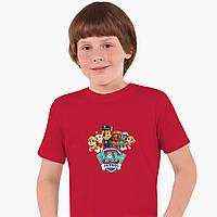 Детская футболка для мальчиков Щенячий патруль (PAW Patrol) (25186-1607) Красный, фото 1
