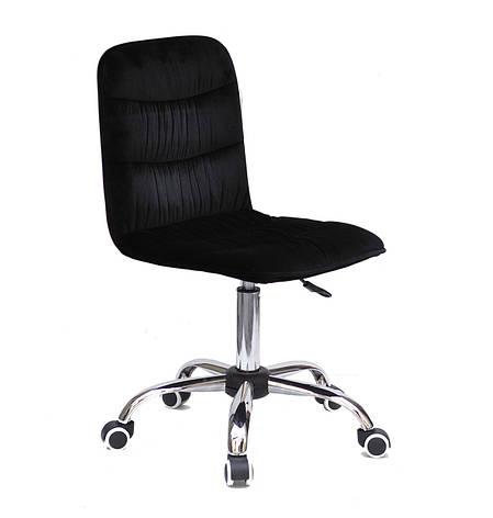 Кресло офисное  на колесах  SPLIT   CH- OFFICE  бархат  ,  черный   в-1011, фото 2