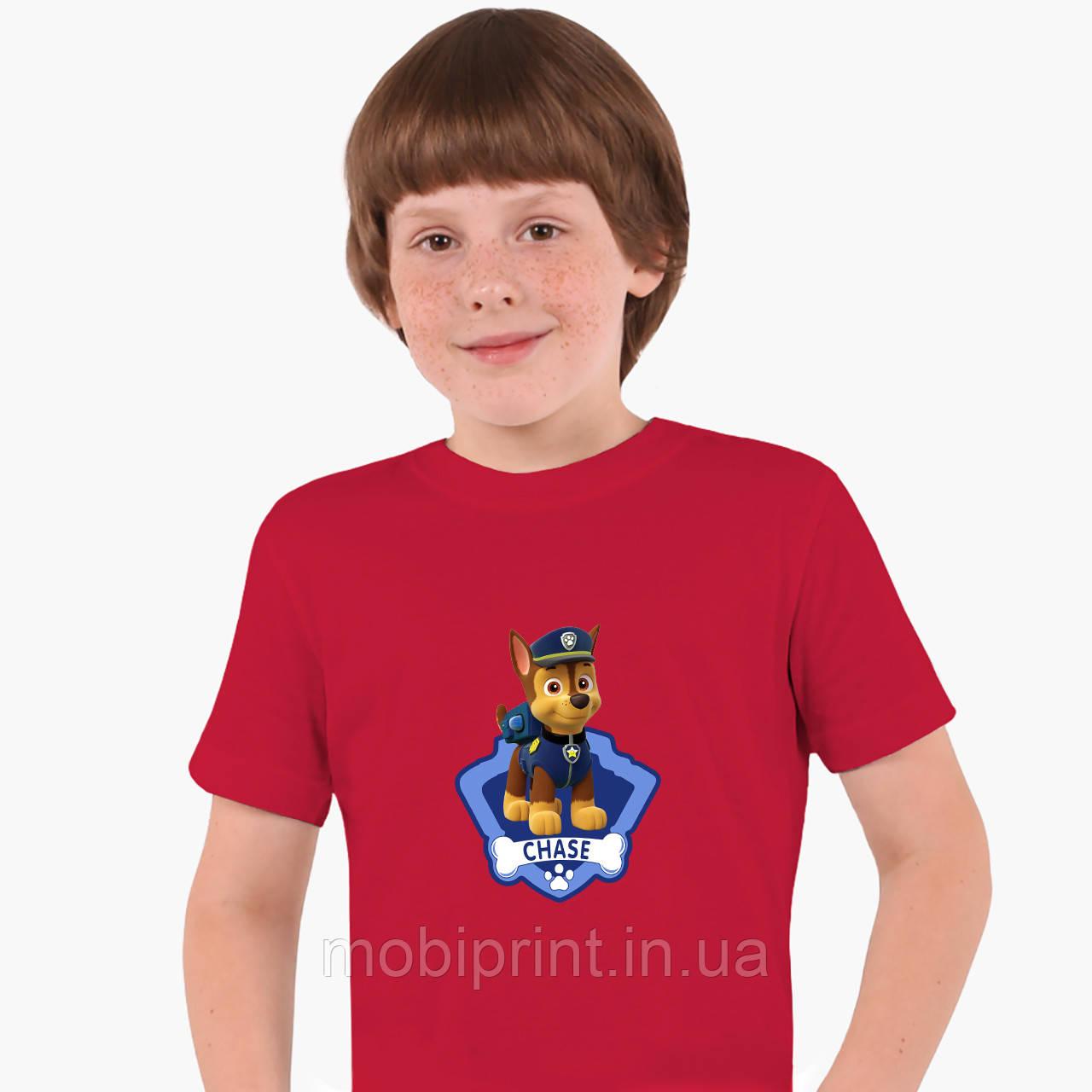 Детская футболка для мальчиков Щенячий патруль (PAW Patrol) (25186-1610) Красный