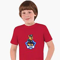 Детская футболка для мальчиков Щенячий патруль (PAW Patrol) (25186-1610) Красный, фото 1