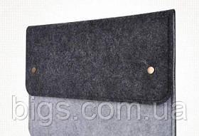 Чехол папка для документов, гаджетов и аксессуаров на кнопках Черный