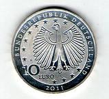 Германия 10 евро 2011 200 лет со дня рождения Франца Листа серебро UNC c33, фото 2