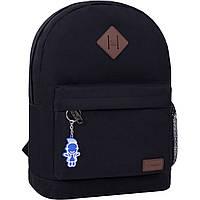 Рюкзак міський молодіжний Bagland для дівчини і хлопця чорний 17 л.