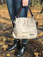 Кожаная женская сумка на плече Weidipolo