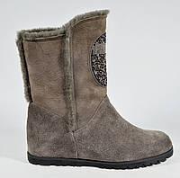 Зимние замшевые ботинки Polann фабричное качество