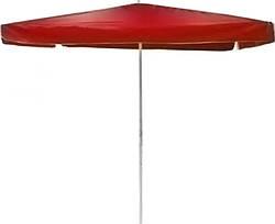 Зонт пляжный, садовый складной Stenson MH-0045, 2.5x2.5м, квадратный, красный