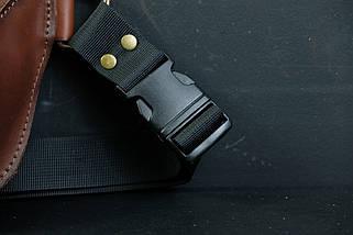 """Сумка """"Модель №70 мини"""" с фастексом, кожа Итальянский краст цвет Коричневый, фото 3"""