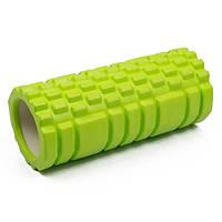 Роллер для массажа спины и разминки мышц, Зеленый с большими секциями, массажный валик/ролик для фитнеса (ST), фото 1