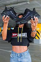 Женские кроссовки Dior D-Connect Black  \ Диор Д-Коннект Черные \ Жіночі кросівки Діор Д-Коннект Чорні