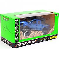 Машинка ігрова Автопром «Ford F-150» Синій зі світловими і звуковими ефектами (7865), фото 2
