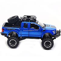 Машинка ігрова Автопром «Ford F-150» Синій зі світловими і звуковими ефектами (7865), фото 3